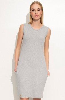 Makadamia M361 sukienka szara