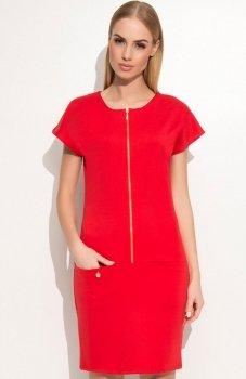 Makadamia M346 sukienka czerwona