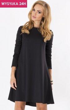 *Makadamia M123 sukienka czarna