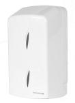 Pojemnik (podajnik) Bisk Masterline (04305) na papier toaletowy w rolkach lub w listkach, ścienny, plastikowy ABS