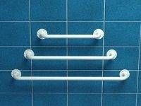 Poręcz prosta z atestem 70 cm fi 25 mm emaliowana biała