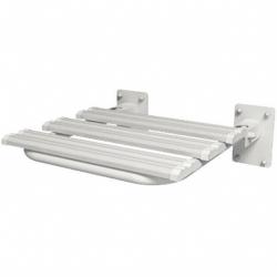 Siedzisko prysznicowe uchylne dla niepełnosprawnych Faneco SKPU-2 SW B 44x46 cm stal węglowa emaliowana