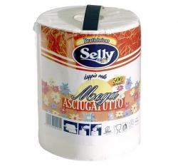 Ręczniki papierowe kuchenne SELLY MEGA białe 1 rolka