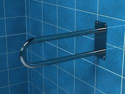 Poręcz stała łukowa dla niepełnosprawnych PSP/PSM 675S 75 cm stal nierdzewna