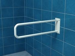 Poręcz stała łukowa dla niepełnosprawnych UR8s 80 cm stal węglowa emaliowana
