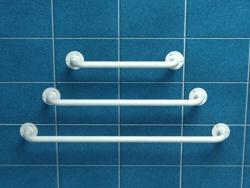 Poręcz prosta z atestem 60 cm fi 25 mm emaliowana biała