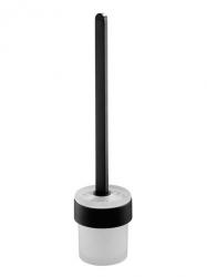 Szczotka WC Bisk Futura Black 02958 z uchwytem i pojemnikiem szklanym