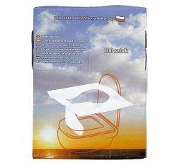 Toaletowe podkłady higieniczne Linea Trade papierowe 100 sztuk