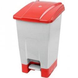 Kosz na odpady czerwony otwierany pedałem 70 l z tworzywa KP70-CZE