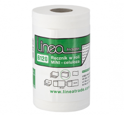 Ręczniki papierowe w roli mini Linea Trade 6120 Ø 140 mm 2-warstwowe białe