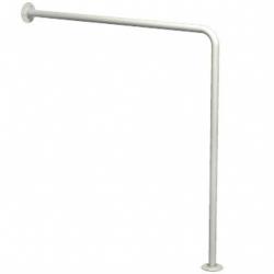 Poręcz prosta dla niepełnosprawnych typu ściana-podłoga Faneco S32UUWCW7 SW B 70x70 cm stal węglowa emaliowana