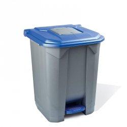 Kosz na odpady niebieski otwierany pedałem 30 l z tworzywa KP30-N