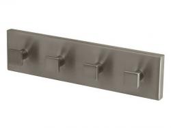 Wieszak łazienkowy 4-hakowy Bisk Nord 00573 metalowy