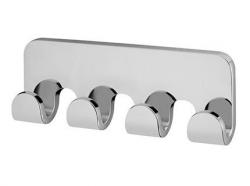 Metalowy wieszak łazienkowy Bisk Natura 04317 4-zawieszkowy chromowany