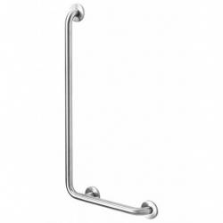 Poręcz kątowa 90° dla niepełnosprawnych Faneco S32UKL7/5 SN M lewa 70x50 cm stal nierdzewna
