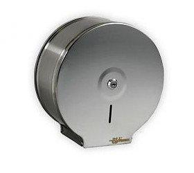 Pojemnik (podajnik) Bisk Masterline Jumbo (00343) na papier toaletowy w rolkach, ścienny, ze stali nierdzewnej