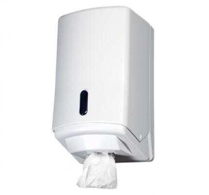Pojemnik (podajnik) 222 na ręczniki papierowe w roli z wyciąganą tuleją, wykonany z tworzywa sztucznego ABS