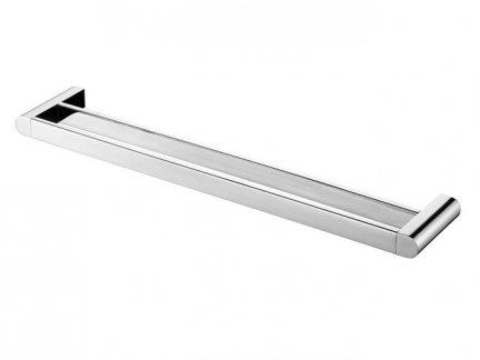 Metalowy wieszak kąpielowy Bisk Futura Silver 02994 chromowany podwójny