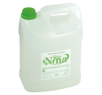 Mydło w płynie z gliceryną 5 L NINA o zapachu kwiatowym