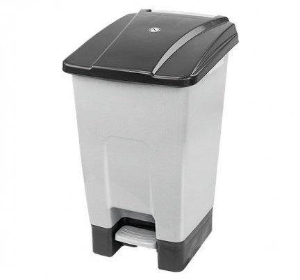 Kosz na odpady czarny otwierany pedałem 70 l z tworzywa KP70-CZA