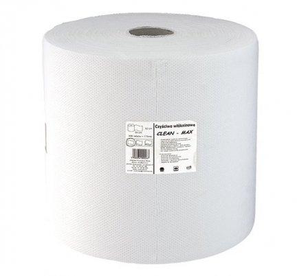 Czyściwo włókninowe Clean-Max bezpyłkowe białe w rolce 175 mb