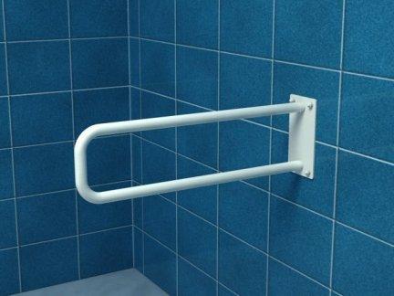 Poręcz stała łukowa dla niepełnosprawnych UR6s 60 cm stal węglowa emaliowana