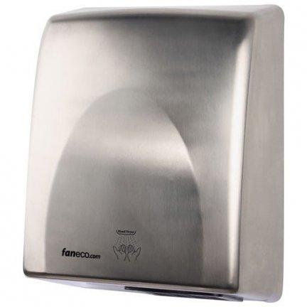 Suszarka do rąk Faneco Passat 1800W (D1800SCB), automatyczna, srebrna ze stali nierdzewnej