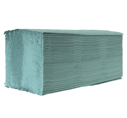 Ręczniki papierowe ZZ w listkach Eco Clean 4000 250 x 230 mm 1-warstwowe zielone