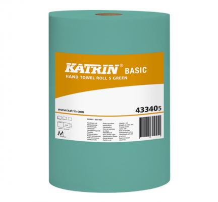Ręczniki papierowe w roli mini Katrin Basic S Green Bis 43340 Ø 140 mm 1-warstwowe zielone