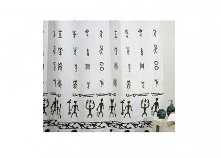 Zasłona prysznicowa tekstylna Bisk AFRICA 00837
