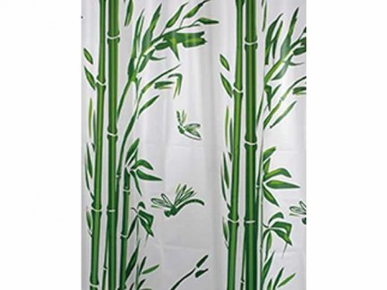 Zasłona prysznicowa Bisk PEVA M BAMBOO 05846 120x200 cm