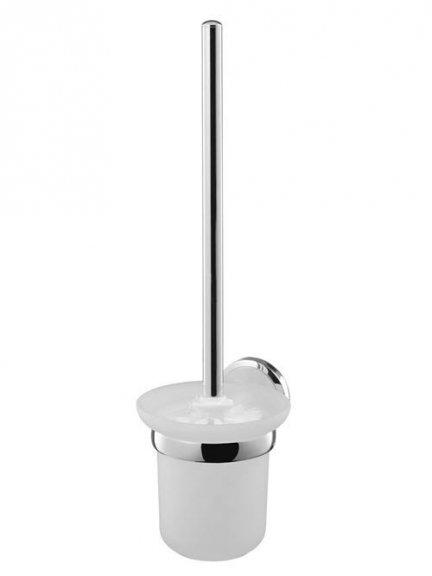 Zawieszana szczotka WC Bisk Sensation 03094 z metalu i mrożonego szkła