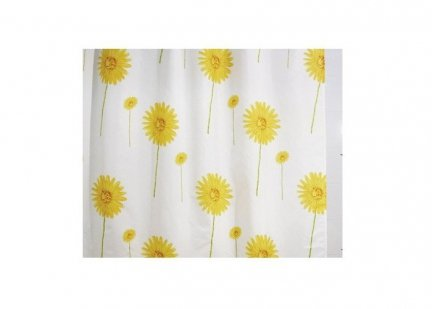 Zasłona prysznicowa tekstylna Bisk DANDELION 00830