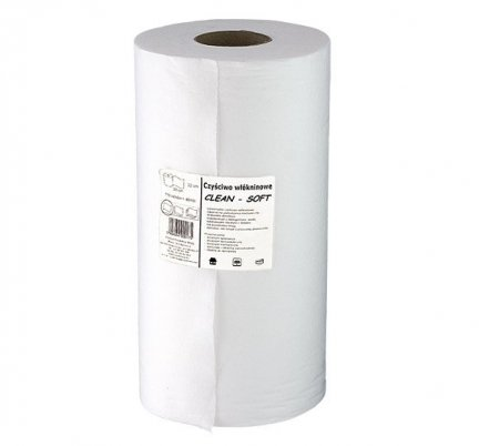 Czyściwo włókninowe Clean-Soft bezpyłkowe białe w rolce 46 mb