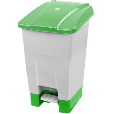 Kosz na odpady zielony otwierany pedałem 70 l z tworzywa KP70-Z
