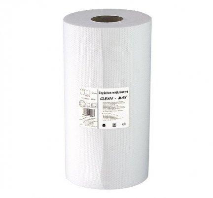 Czyściwo włókninowe Clean-Max bezpyłkowe białe w rolce 44 mb