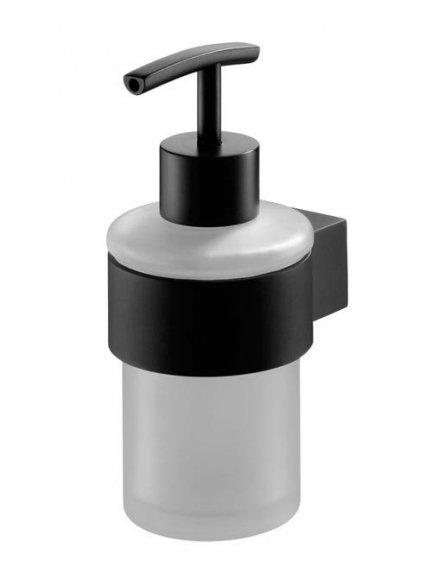 Łazienkowy dozownik mydła Bisk Futura Black 02953 z uchwytem