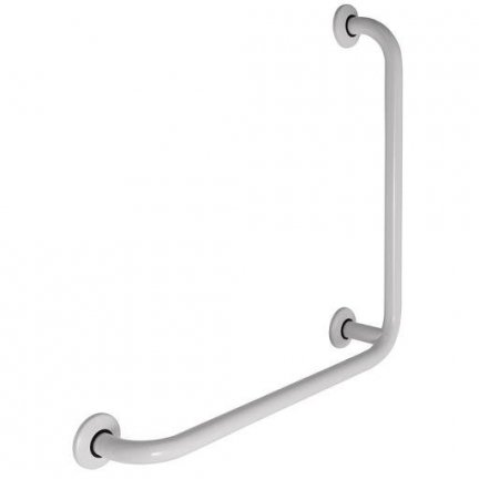 Poręcz kątowa 90° dla niepełnosprawnych Faneco S32UK6 SW B 60x60 cm stal węglowa emaliowana