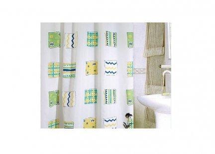 Zasłona prysznicowa tekstylna Bisk BALI 08100