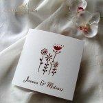 Einladungskarten / Hochzeitskarte 01731_51_Gerbera