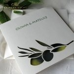 Einladungskarten / Hochzeitskarte 01731_47_Oliven