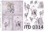 Decoupage paper ITD D0314