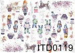 Decoupage paper ITD D0119