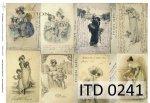 Decoupage paper ITD D0241