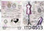 Decoupage paper ITD D0513
