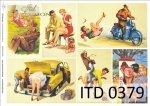 Decoupage paper ITD D0379