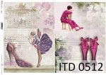 Decoupage paper ITD D0512