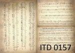 Decoupage paper ITD D0157