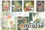 Decoupage paper ITD D0234