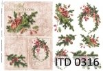 Decoupage paper ITD D0316